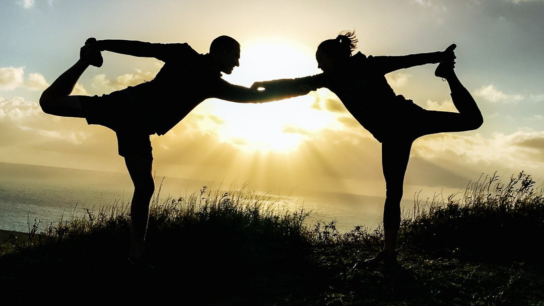 find your why ryan and alex duo life couples yoga at sunrise