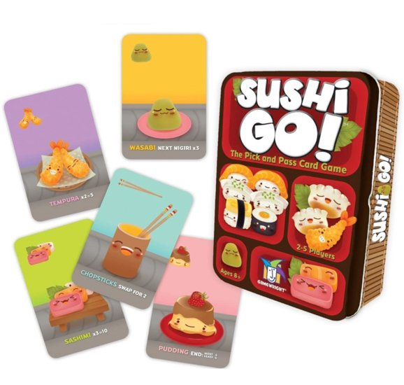 Board Games for Couples Ryan and Alex Duo Life Sushi Go