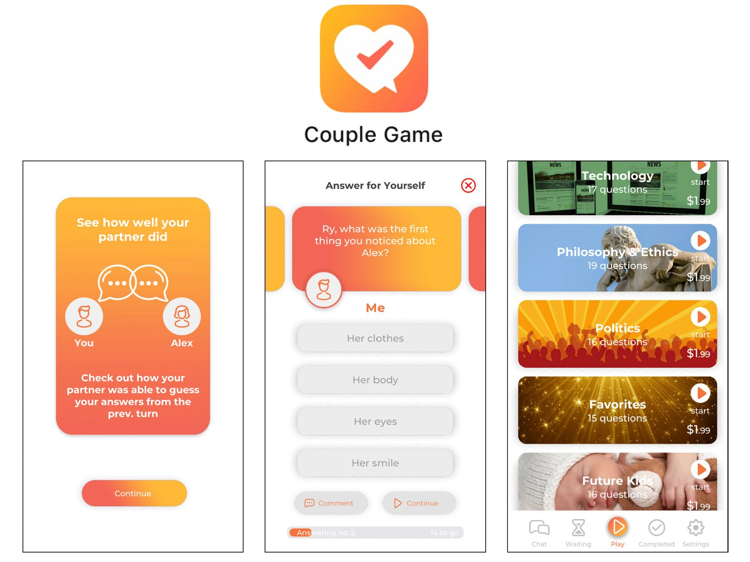 Couple Game Best Apps for Married Couples Ryan and Alex Duo Life