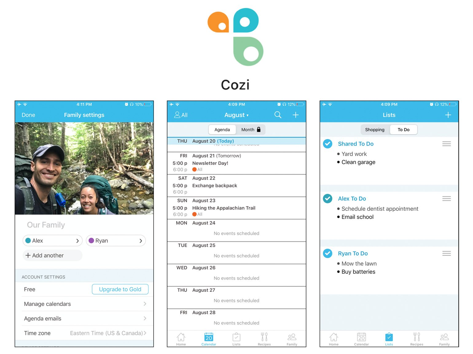 Cozi Best Apps for Married Couples Ryan and Alex Duo Life