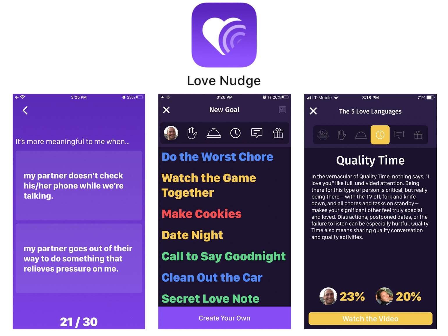 Love Nudge Best Apps for Married Couples Ryan and Alex Duo Life