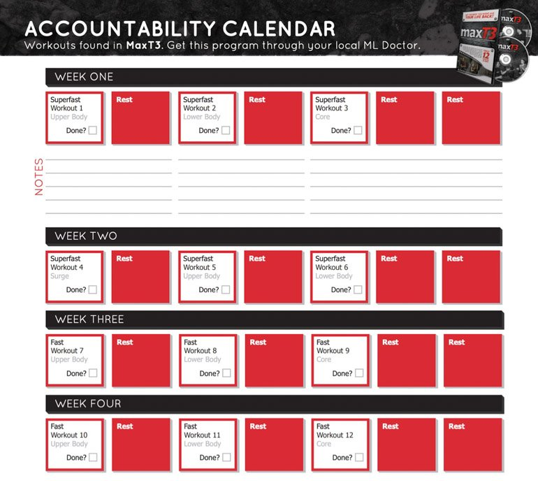 Intermittent fasting and morning workouts with ryan and alex duo life with max t3 accountability calendar