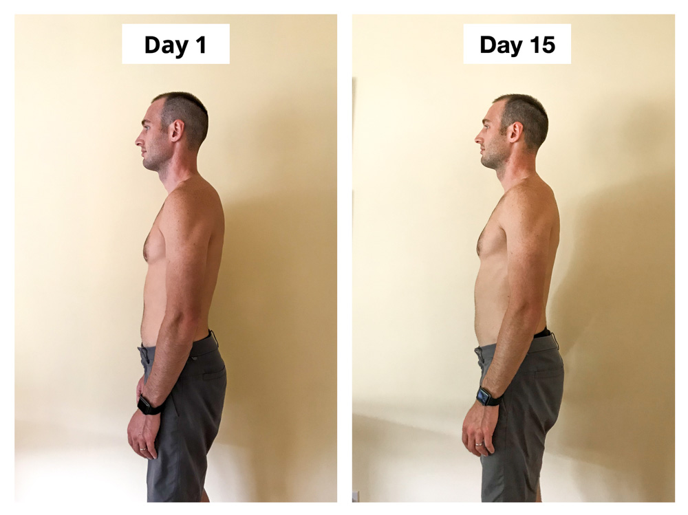 Upright Go 2 Review Posture Corrector Experiment Ryan Before and After Standing