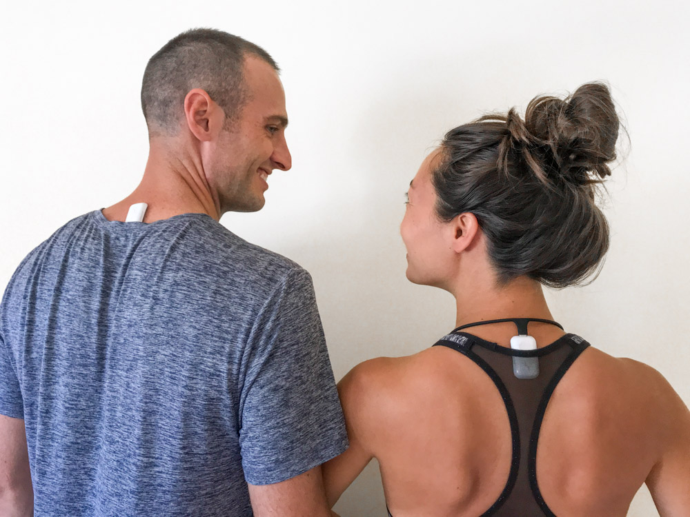 upright go 2 review posture corrector experiment with adhesive and necklace