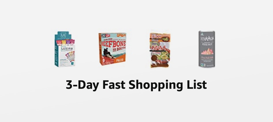 3-Day Fast Shopping List Foods
