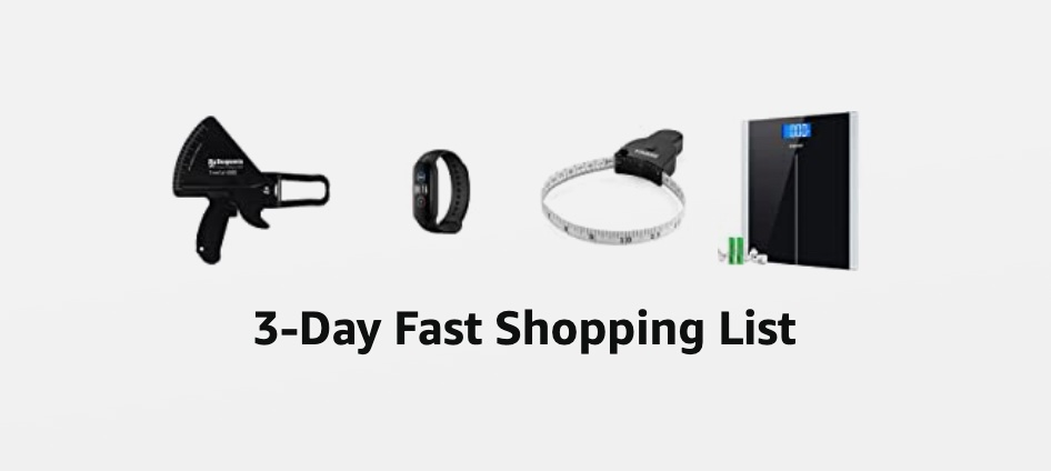 3-Day Fast Shopping List Gear