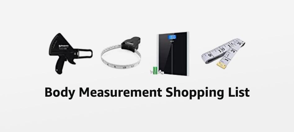 Body Measurement Chart Shopping List