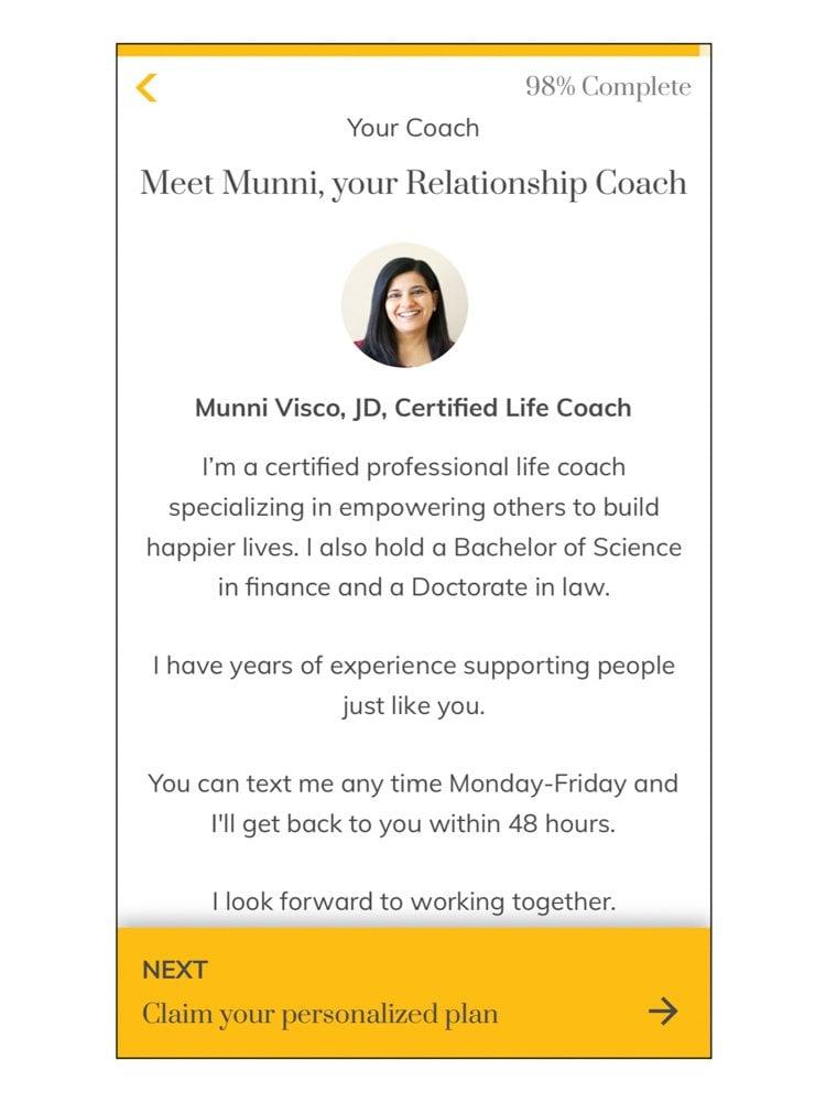 Relish App Coach Intro