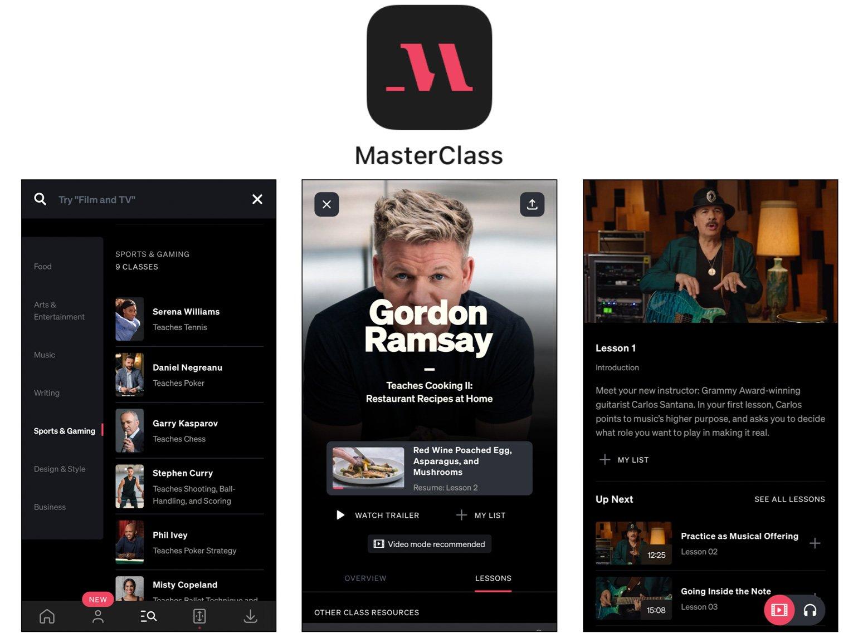 MasterClass Best Self-Care Apps