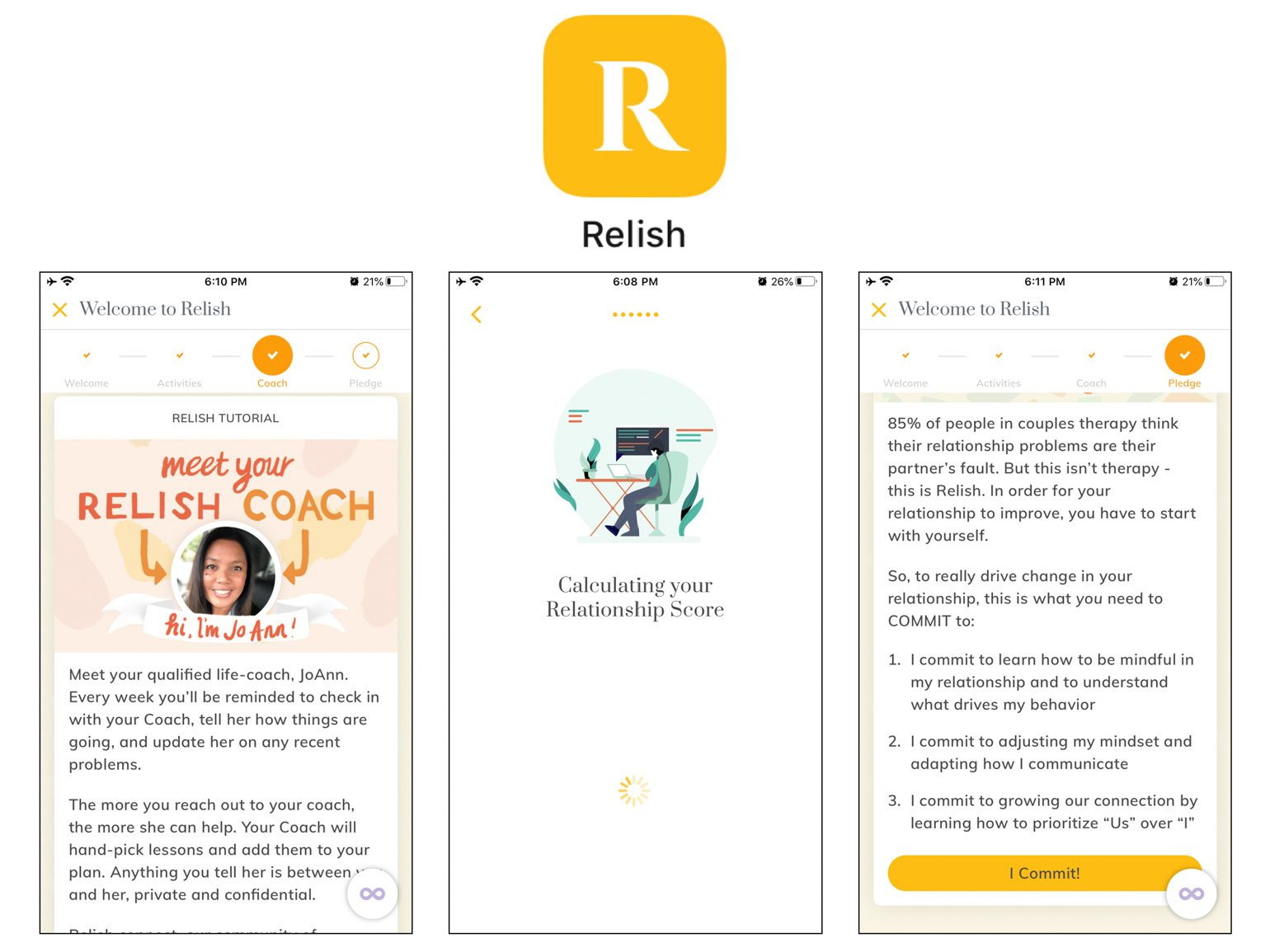 Relish Best Self-Care Apps