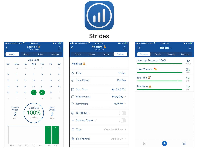 Strides Best Self-Care Apps