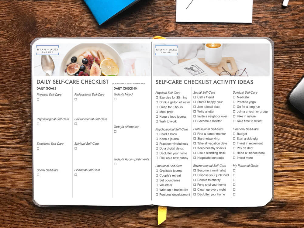 Self-Care Checklist PDF Form